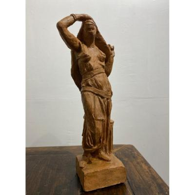 Original Orientalist Terracotta Statuette: Late 19th