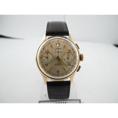 Herma Chrono 18k Gold Bracelet Watch