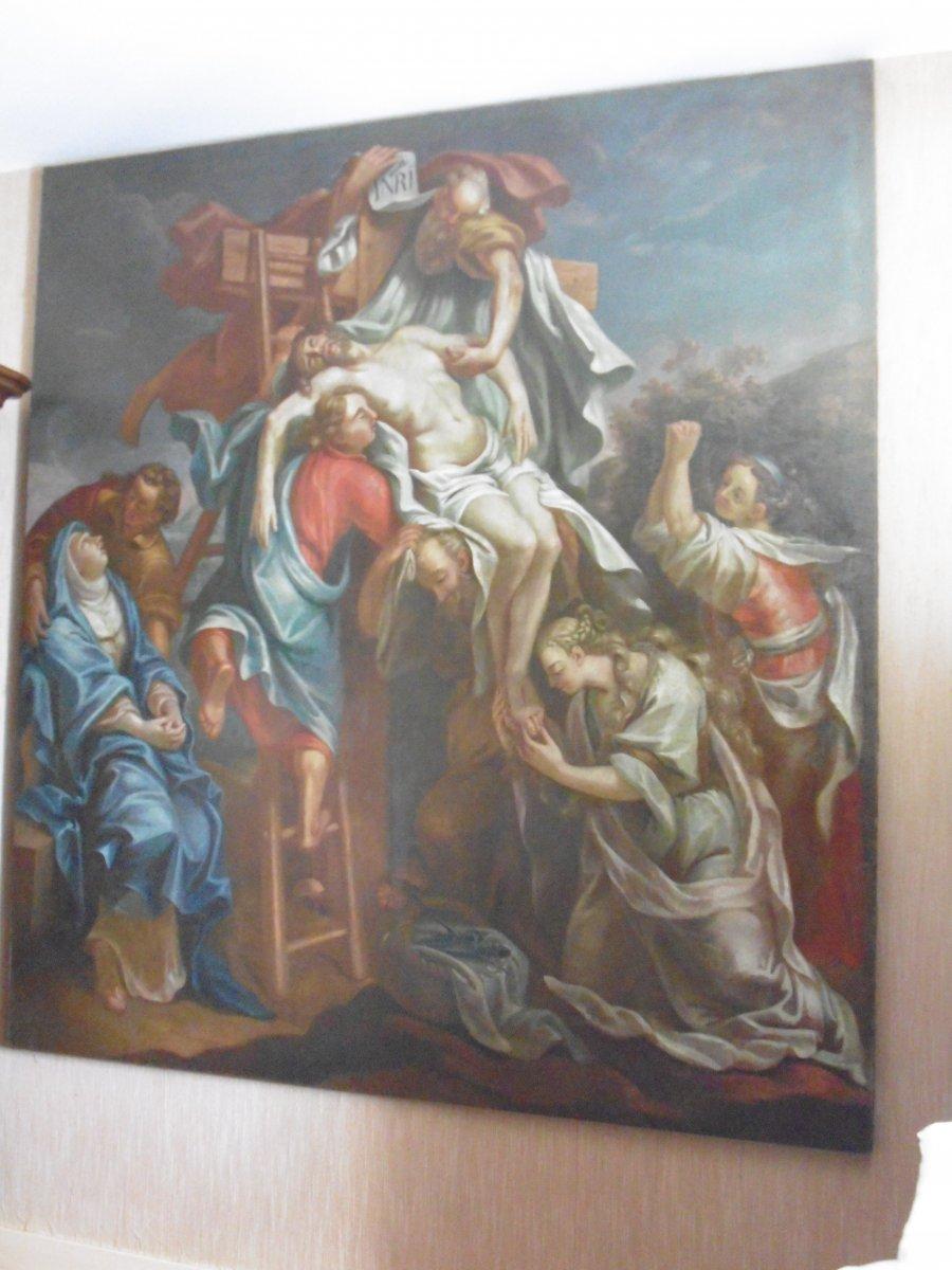 Grande Peinture Religieuse Du XVIIe