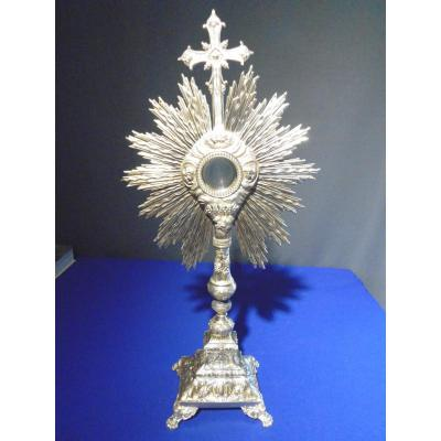 Monstrance Silver And Vermeil