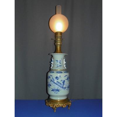 Lampe à Huile En Porcelaine émaillée céladon - Chine