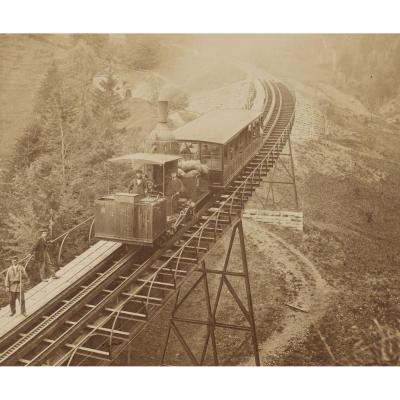 Beautiful Lot Of Fourteen Photographs 19th - Trains - Italy - Naples - Vesuvius - Genoa - Pompei