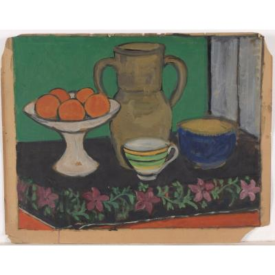 Still Life With Oranges - Beginning Of The 20th Century - In The Style Of Henri Matisse