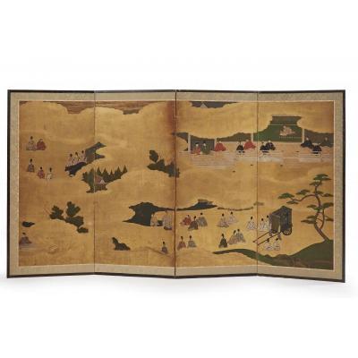 Japonese Screen 19 Th Century