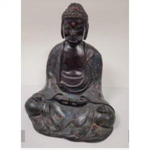 Bouddha En Bronze à émaux Cloisonnés
