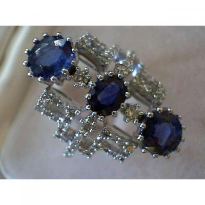 Marquise Saphirs Et Diamants