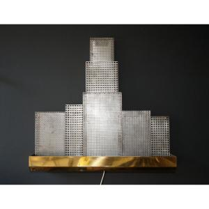Brass And Metal Wall Lamp
