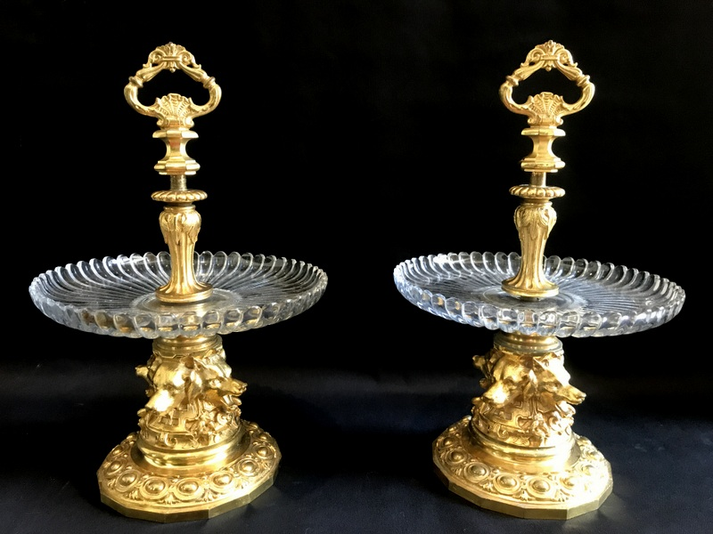 Pair Of Especially Thomire Gilt Bronze And Crystal