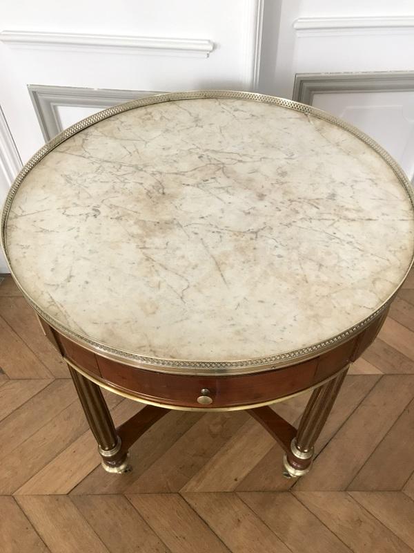 Table Bouillotte Louis XVI En Acajou-photo-4