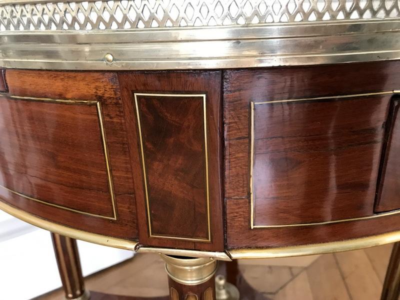 Table Bouillotte Louis XVI En Acajou-photo-3