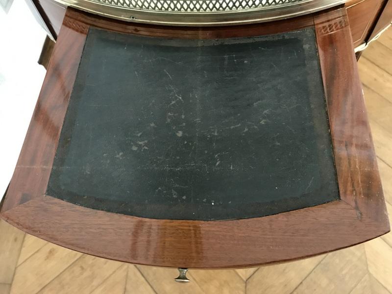 Table Bouillotte Louis XVI En Acajou-photo-5