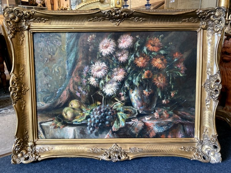 Flemish Still Life Oil On Canvas