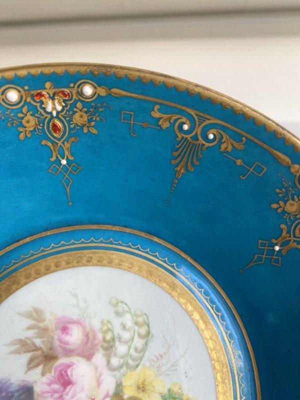 Enameled Sèvres Porcelain Cup-photo-3
