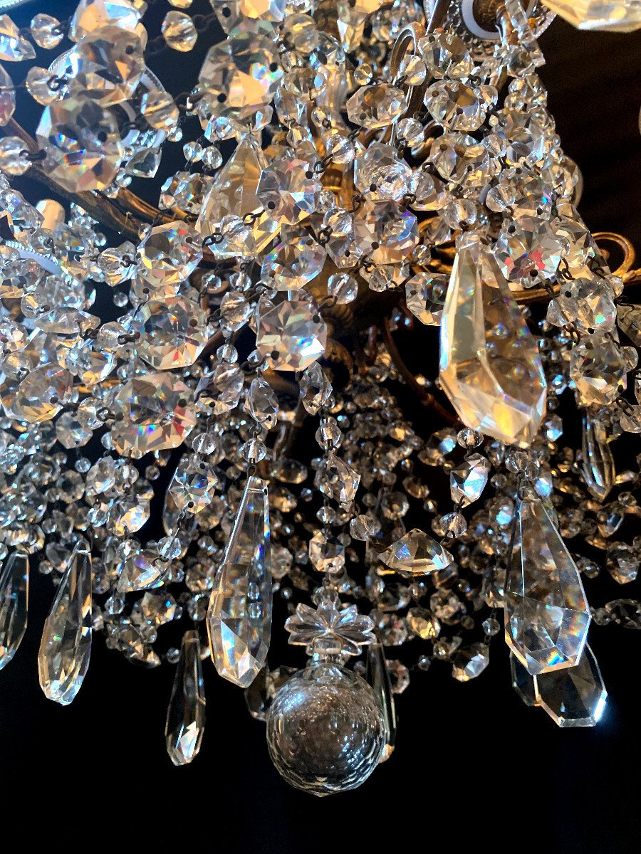 Baccarat Chandelier In Bronze And Crystal-photo-2