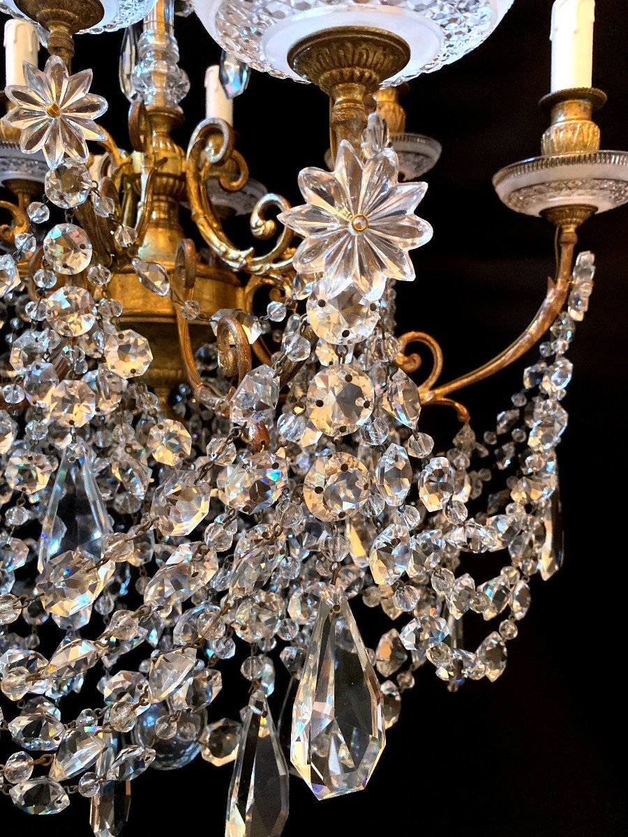 Baccarat Chandelier In Bronze And Crystal-photo-4