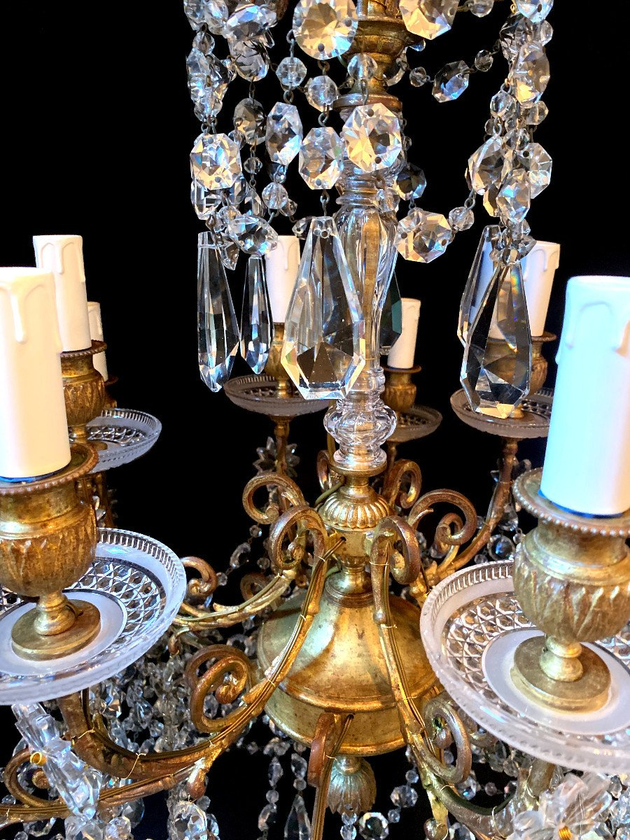 Baccarat Chandelier In Bronze And Crystal-photo-6