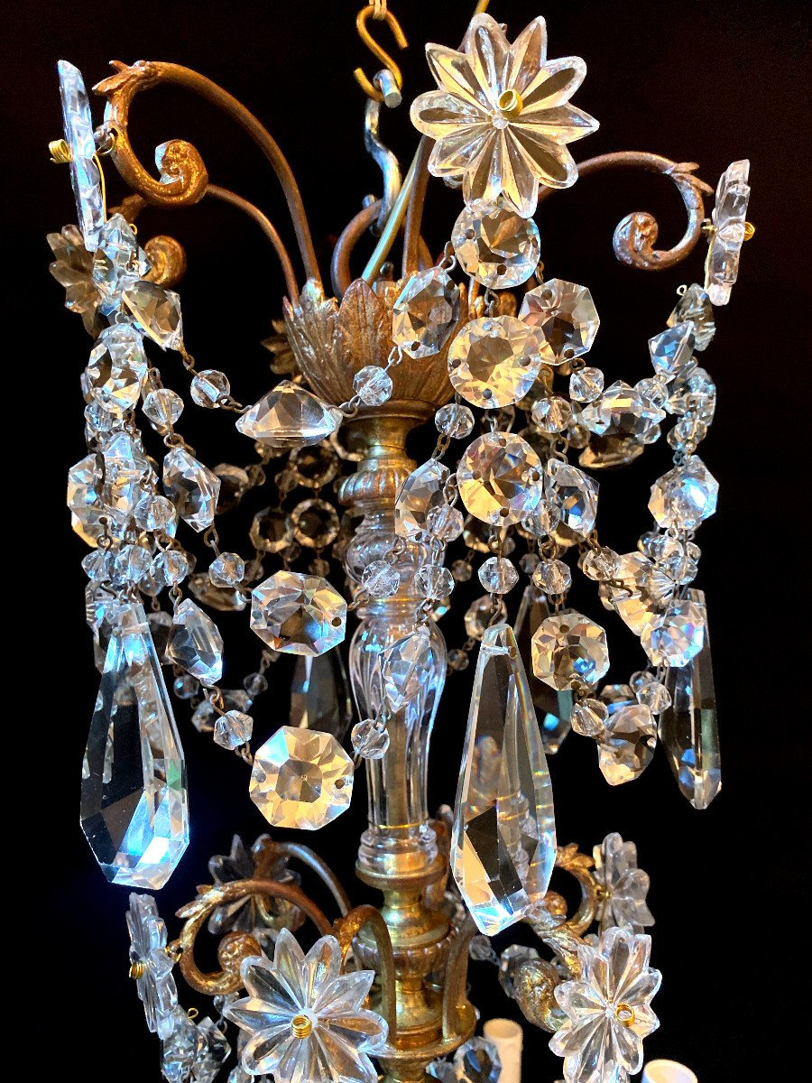 Baccarat Chandelier In Bronze And Crystal-photo-7