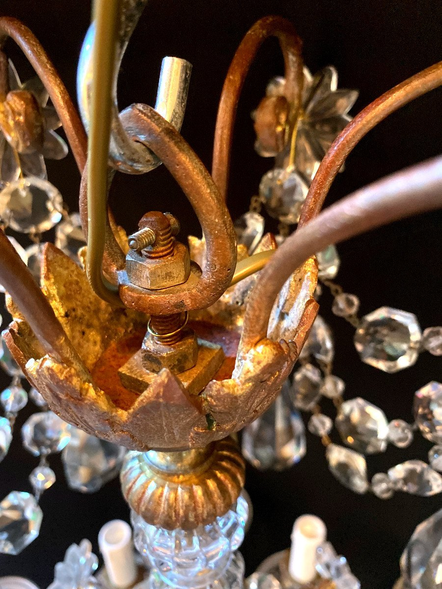 Baccarat Chandelier In Bronze And Crystal-photo-8