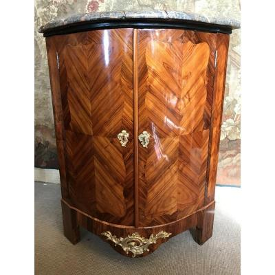 Corner Louis XV In Marquetry