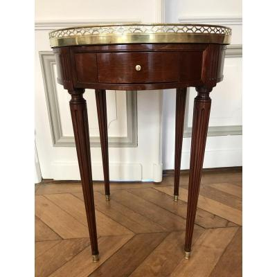 Table Bouillotte Louis XVI En Acajou