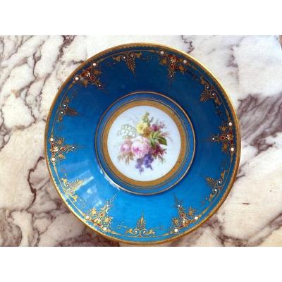 Coupelle En Porcelaine De Sèvres émaillée