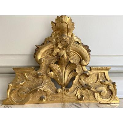 Regency Golden Wood Mirror Pediment