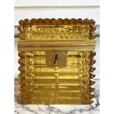 Charles X Box In Crystal And Gilt Bronze
