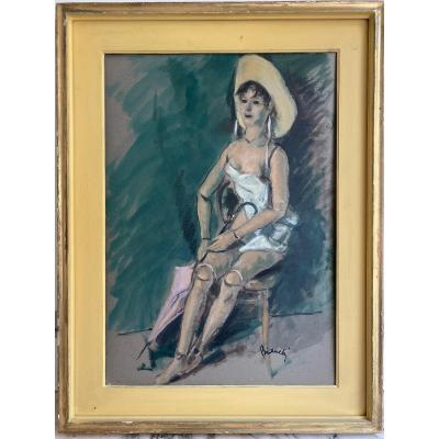 Mannequin Painting Signed Bianchi