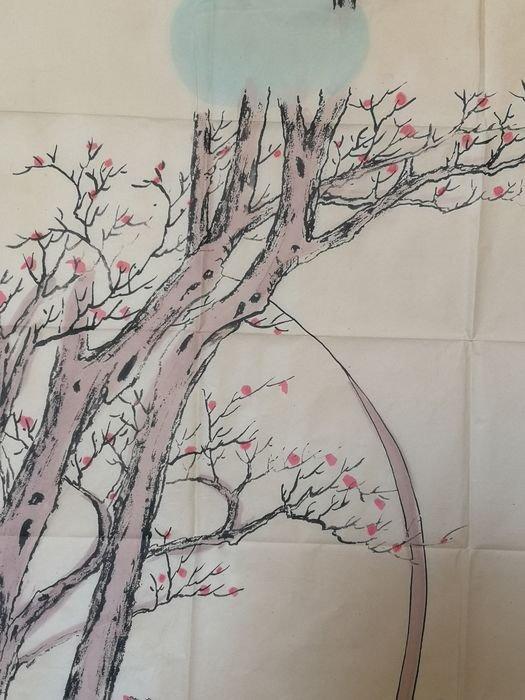 Peinture Sur Soie A Décor De Geisha - Chine Début Du XXème Siècle -photo-5