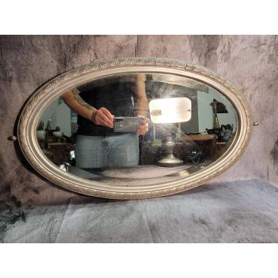 Miroir Ovale Au Mercure Art Déco