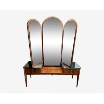 Venetian Dressing Table With Triptych Mirror Art Deco Period