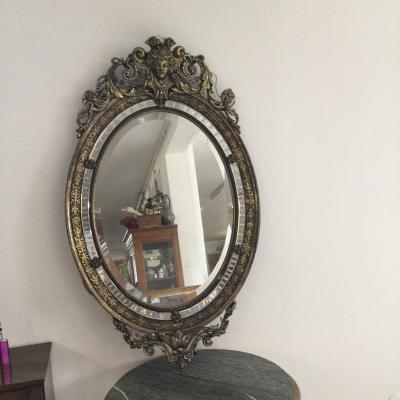 Miroir Napoléon III Ovale