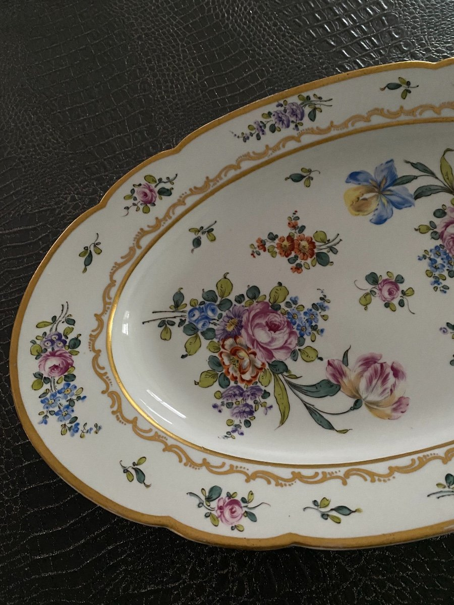Grand Plat Porcelaine Saxe XIX ème