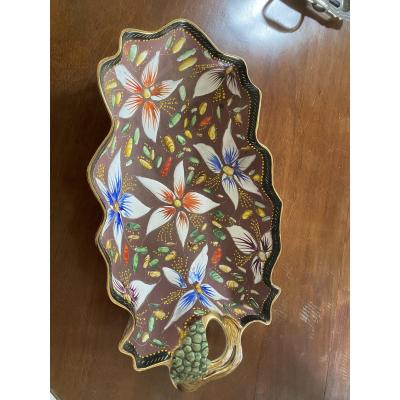 Enameled Earthenware Dish H. Bequet
