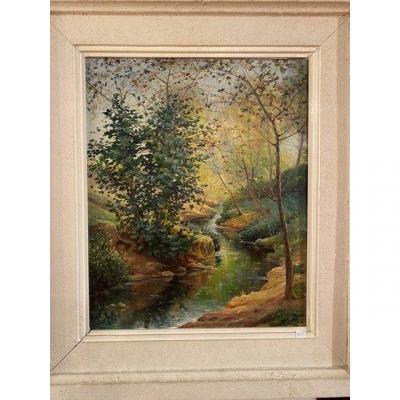 Oil On Canvas Rm. Debat (1906-1972)