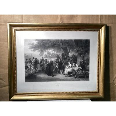 Large Louis Philippe Period Engraving