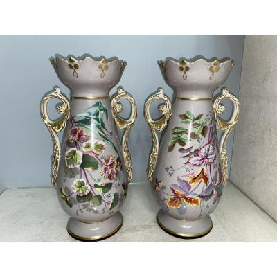 Pair Of Paris Porcelain Vase
