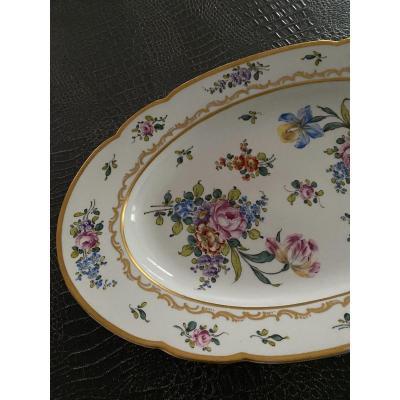 Large Porcelain Dish Saxony XIX