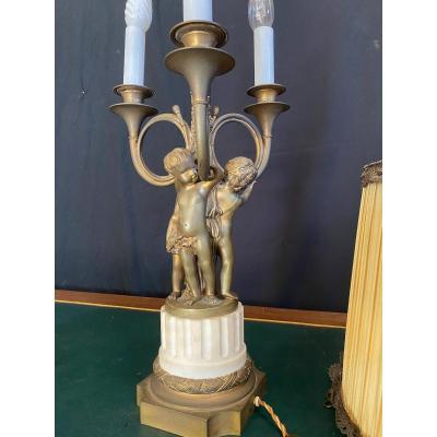 Lampe En Bronze époque Napoléon 3