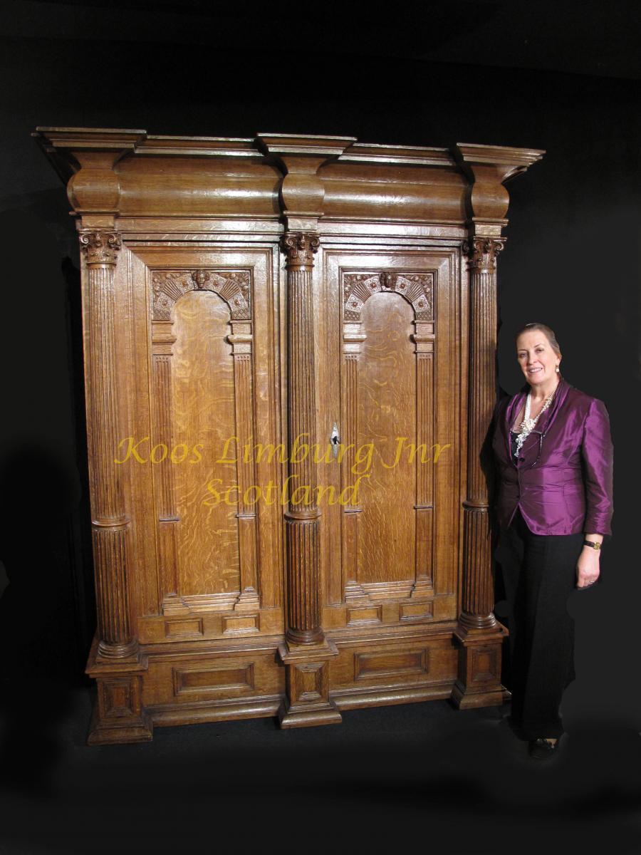 Rare Furniture Two Door Dutch Oak C. 1670