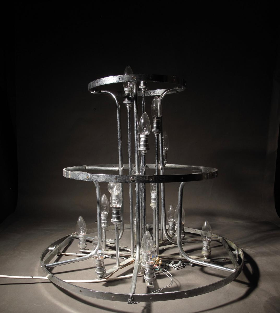 A Spectacular Magnificent Very Decorative Original Glass Chandelier,-photo-2