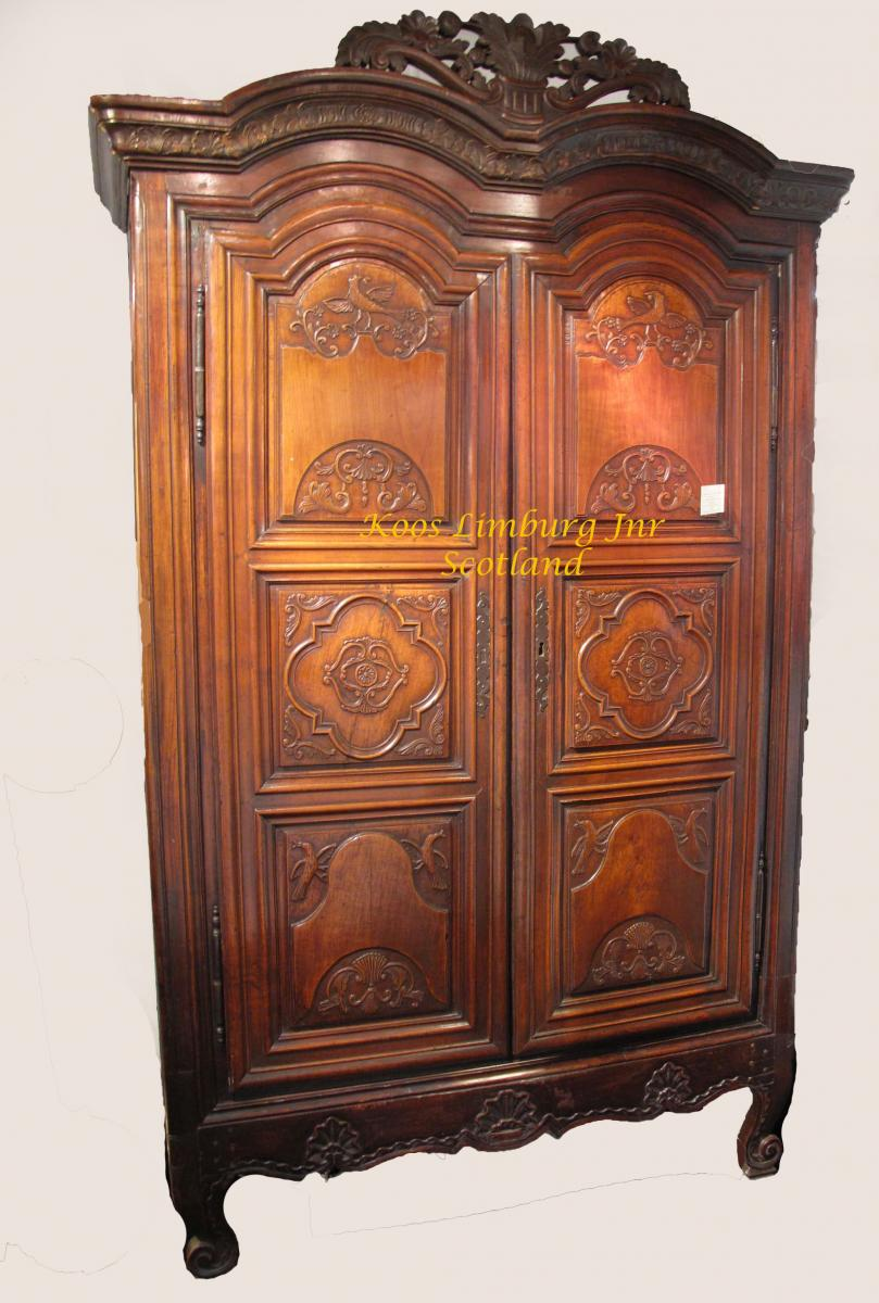 A Wardrobe In Walnut Very Decorative And Unusual Renaise