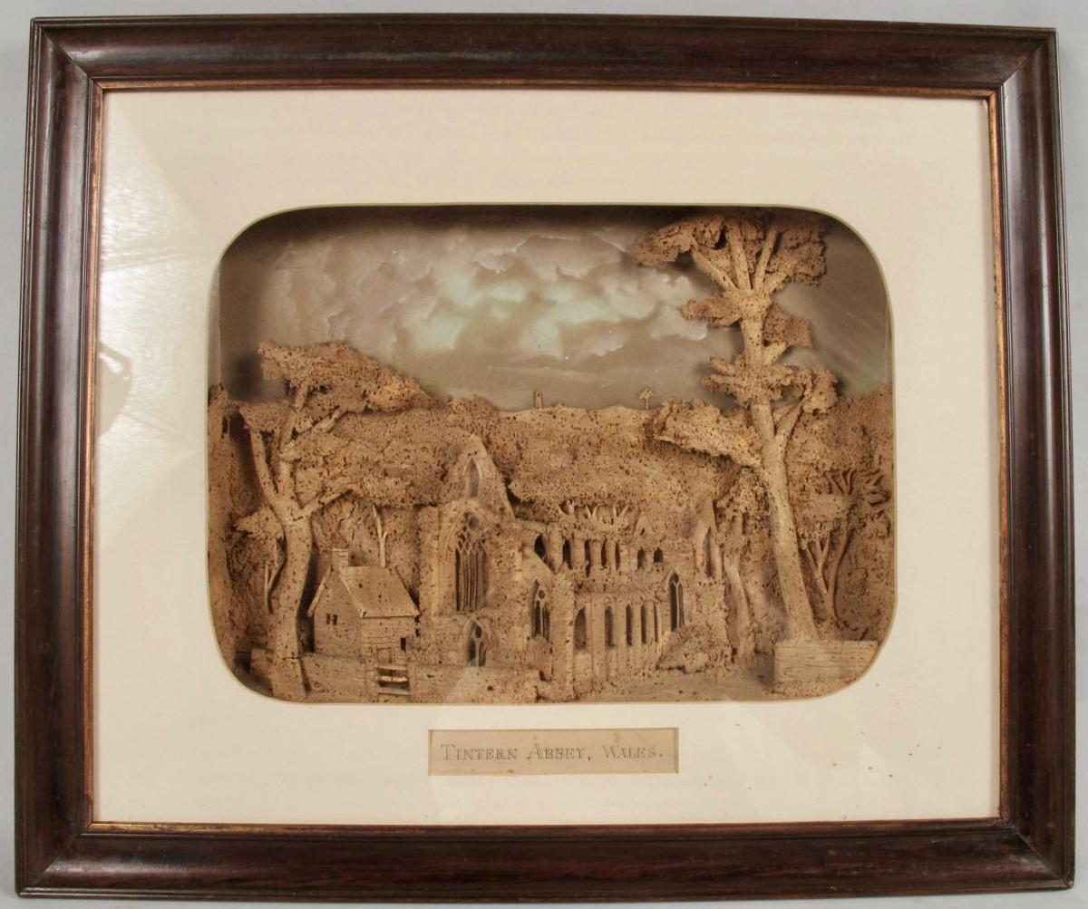 Rare And Historic Cork Sculpture From Tintern Abbey, Wales