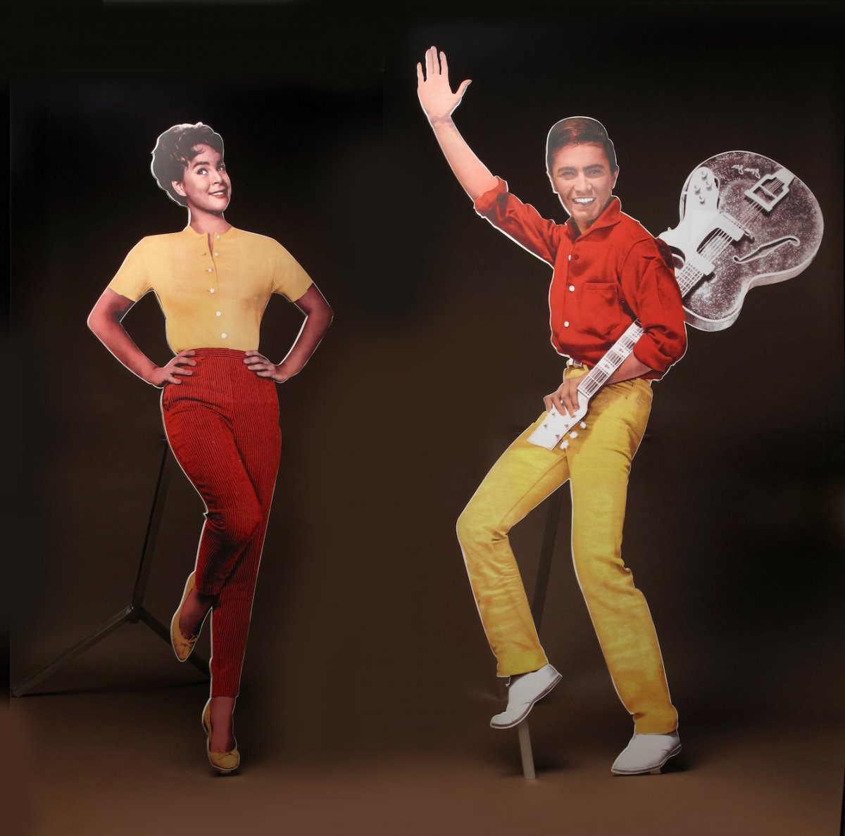 Two Interesting Life-size Advertisement Boards Of The Famous Conny Froboess & Rex Gildo 1960s