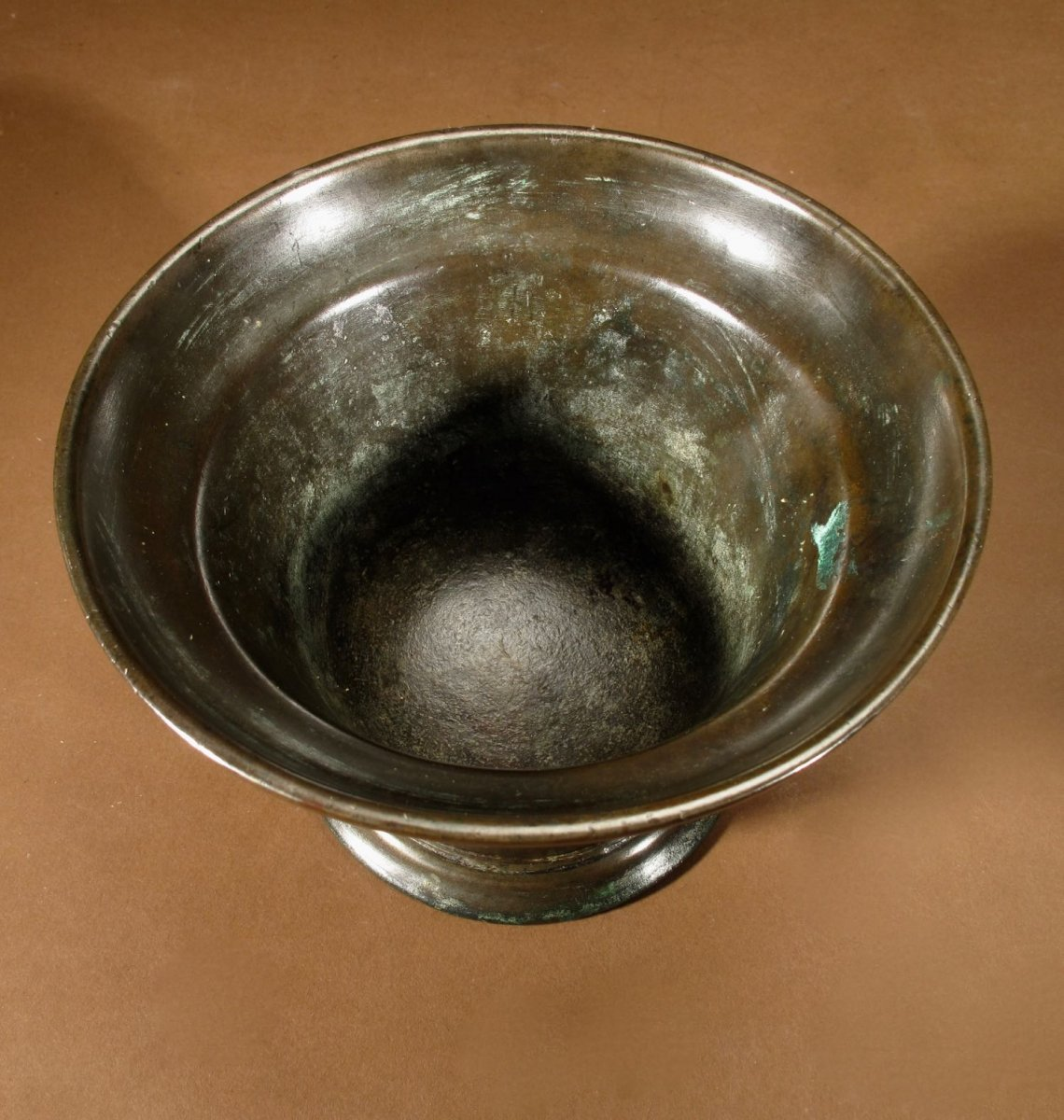 Un Beau Mortier En Bronze Uni, Continental, XVIIe / XVIIIe Siècle-photo-2