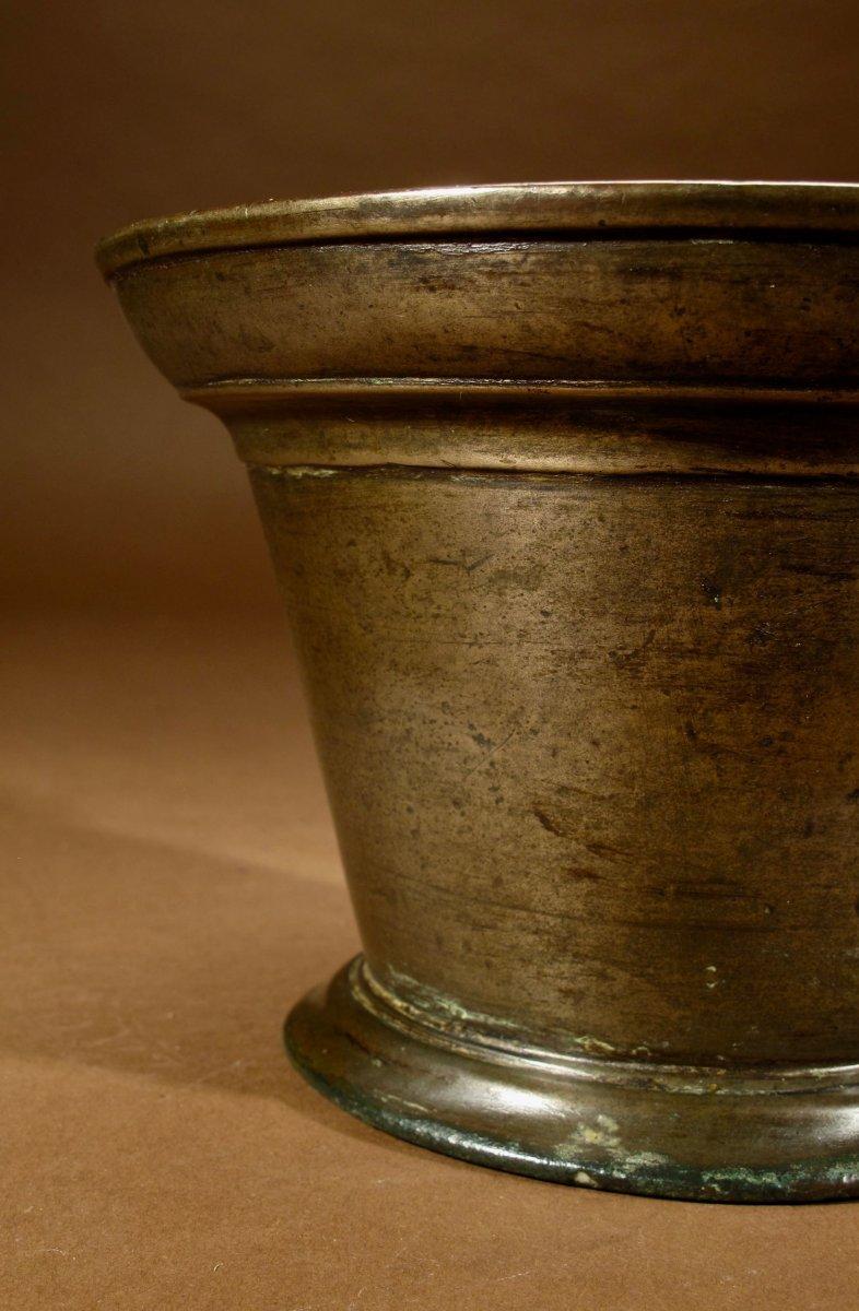 Un Beau Mortier En Bronze Uni, Continental, XVIIe / XVIIIe Siècle-photo-3