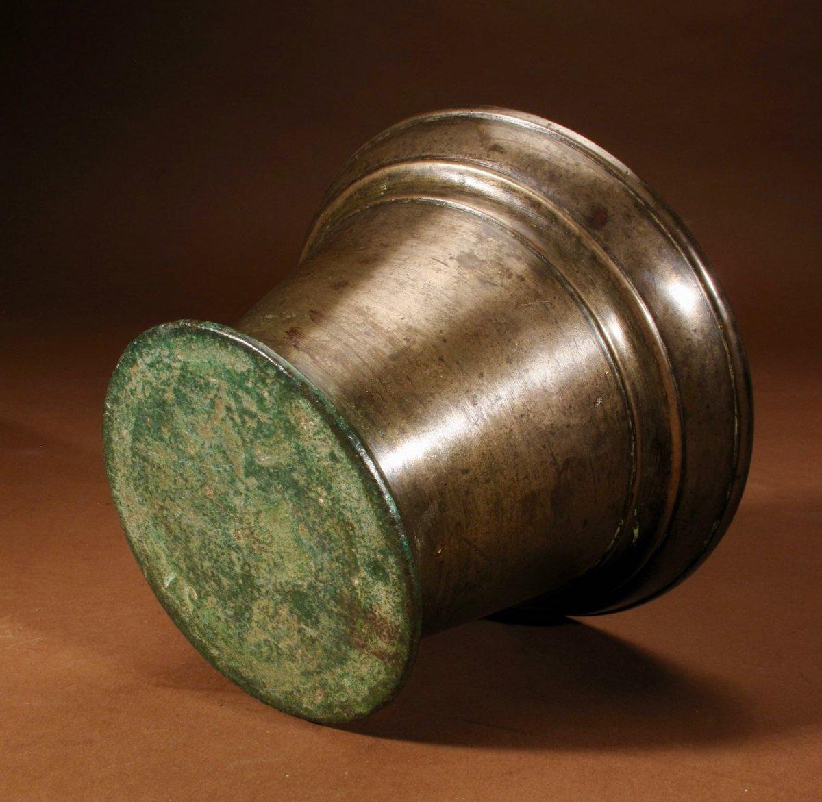 Un Beau Mortier En Bronze Uni, Continental, XVIIe / XVIIIe Siècle-photo-4