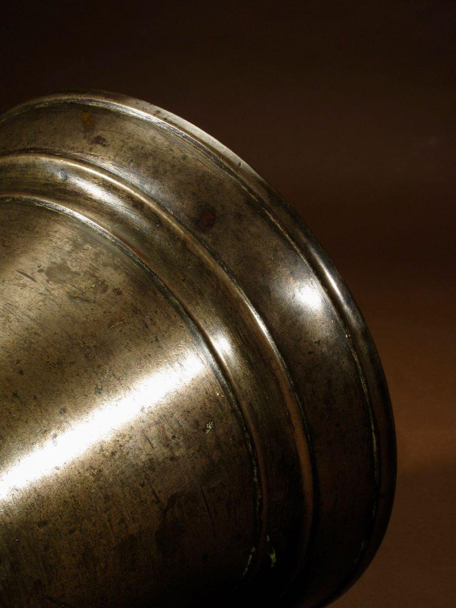 Un Beau Mortier En Bronze Uni, Continental, XVIIe / XVIIIe Siècle-photo-1