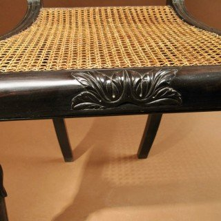 Indian Anglo Chair Finely Carved In Solid Ebony, Ceylon (sri Lanka), 1830-photo-4