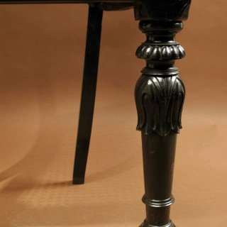 Indian Anglo Chair Finely Carved In Solid Ebony, Ceylon (sri Lanka), 1830-photo-1